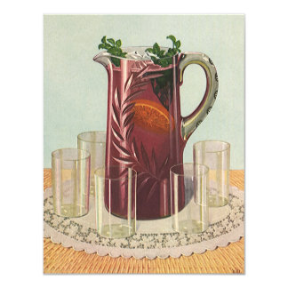 Vintage Drinks and Beverages, Pitcher of Iced Tea Card