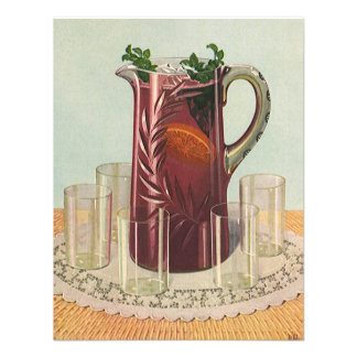 Vintage Drinks and Beverages, Pitcher of Iced Tea Personalized Announcements