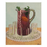 Vintage Drinks and Beverages, Pitcher of Iced Tea Poster