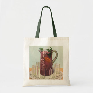 Vintage Drinks and Beverages, Pitcher of Iced Tea Tote Bag