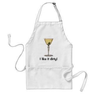 Vintage Drinks Beverages, Martini Olive Cocktail Adult Apron