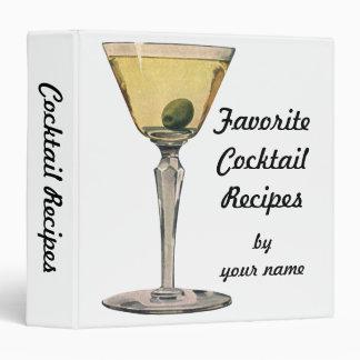 Vintage Drinks Beverages, Martini Olive Cocktail Binder