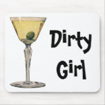 Vintage Drinks Beverages, Martini Olive Cocktail Mouse Pad