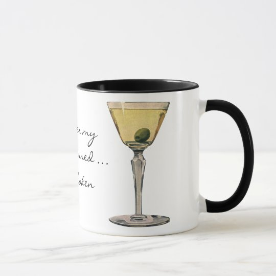 Vintage Drinks Beverages, Martini Olive Cocktail Mug