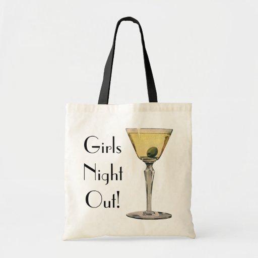 Vintage Drinks Beverges Cocktail Martini Olive Canvas Bags