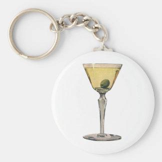 Vintage Drinks Beverges Cocktail Martini Olive Keychains