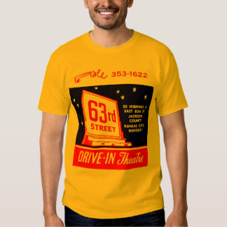 Vintage Drive-In 63rd Street Illustration Ad T-Shirt