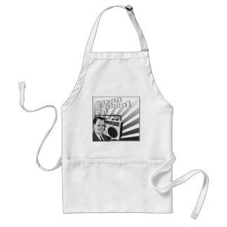 vintage drop an ol school beat adult apron