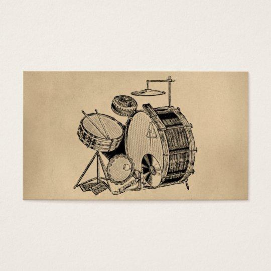 Vintage Drum Kit Drums Business Card