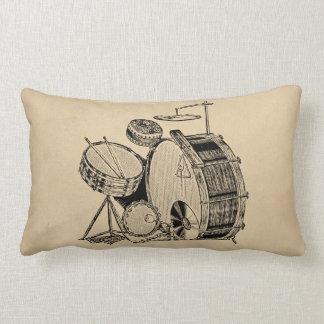 Vintage Drum Kit Drums Lumbar Pillow