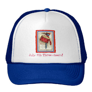 Vintage Drum Red White and Blue Hat