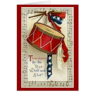 Vintage Drum & Ribbon - Card
