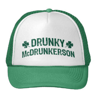 Vintage Drunky McDrunkerson Hats