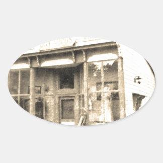 Vintage Dry Goods Building Oval Sticker