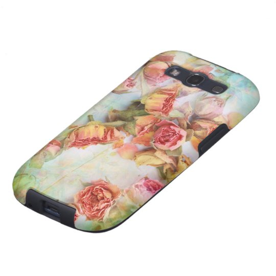 Vintage dry roses wedding galaxy SIII cover