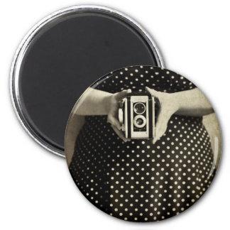 Vintage Duaflex 2 Inch Round Magnet