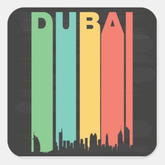 Vintage Dubai Cityscape Square Sticker