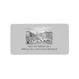 Vintage Dublin Ireland Address Labels Gift Tag Address Label