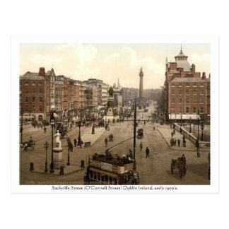 Vintage Dublin Ireland, Sackville Street Postcard