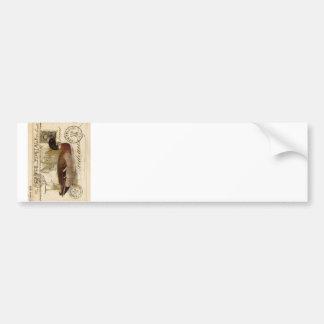 Vintage Duck Card Bumper Sticker