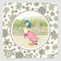 Vintage Duck Easter Gift Stickers