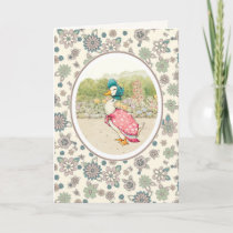 Vintage Duck Easter Greeting Cards