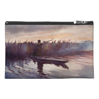 Vintage Duck Hunt Sportsman Lake Canoe Travel Bag