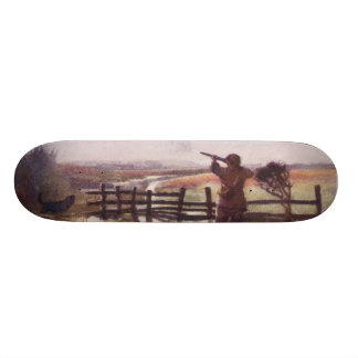 Vintage Duck Hunter Dog Sportsman Skateboard Deck