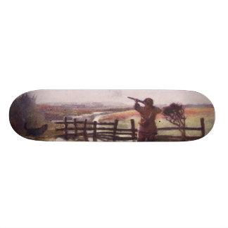 Vintage Duck Hunter Dog Sportsman Skateboard Deck