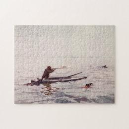 Vintage Duck Hunter Sea Kayak Rifle Jigsaw Puzzle