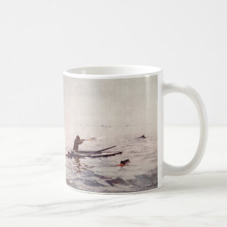 Vintage Duck Hunter Sea Kayak Sportsman Coffee Mug