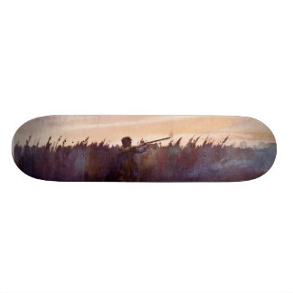 Vintage Duck Hunter Sportsman Lake Skateboard Deck