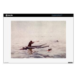 Vintage Duck Hunting Gun Kayak Laptop Macbook Skin