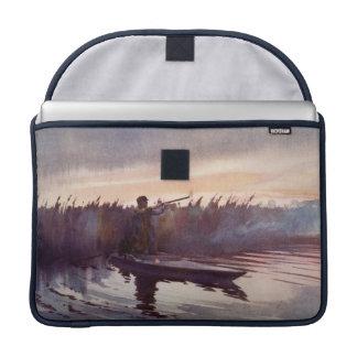 Vintage Duck Hunting Lake Apple Macbook Pro Sleeve