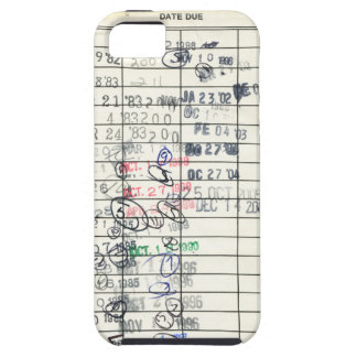 Vintage Due Date Library Overdue Reminder Slip iPhone SE/5/5s Case