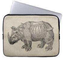 Vintage Durer Rhino Laptop Sleeve