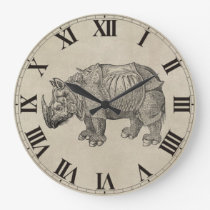 Vintage Durer Rhino Large Clock