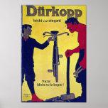 Vintage Durkopp de la publicidad de la bicicleta Impresiones