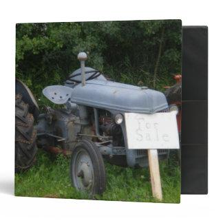 Vintage Dusky Blue Tractor 3 Ring Binder
