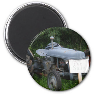 Vintage Dusky Blue Tractor Magnet
