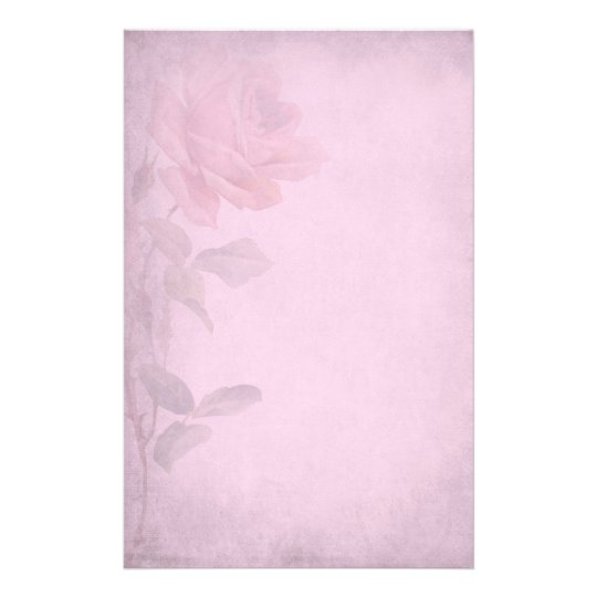 Vintage Dusky Pink Rose Writing Paper