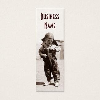 Vintage Dust Bowl Boy Bookmark Business Cards