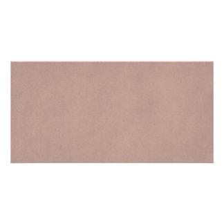 Vintage Dusty Peach Parchment Template Blank Photo Card