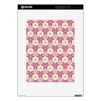 Vintage Dusty Rose Feminine Pattern iPad Skins