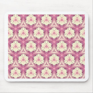 Vintage Dusty Rose Shade Modern Pattern Mouse Pad