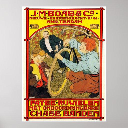 Vintage Dutch Bicycle Poster Print