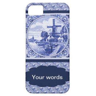 Vintage Dutch Blue Delft image iPhone 5 Cases