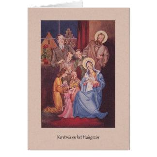 Vintage Dutch Christmas Greeting Card