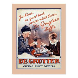 Vintage Dutch coffee advertising Postcard
