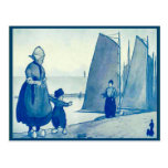 Vintage Dutch costume on the quayside Postcards